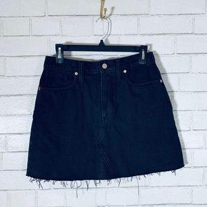 Madewell Black Jean Cut Off Skirt